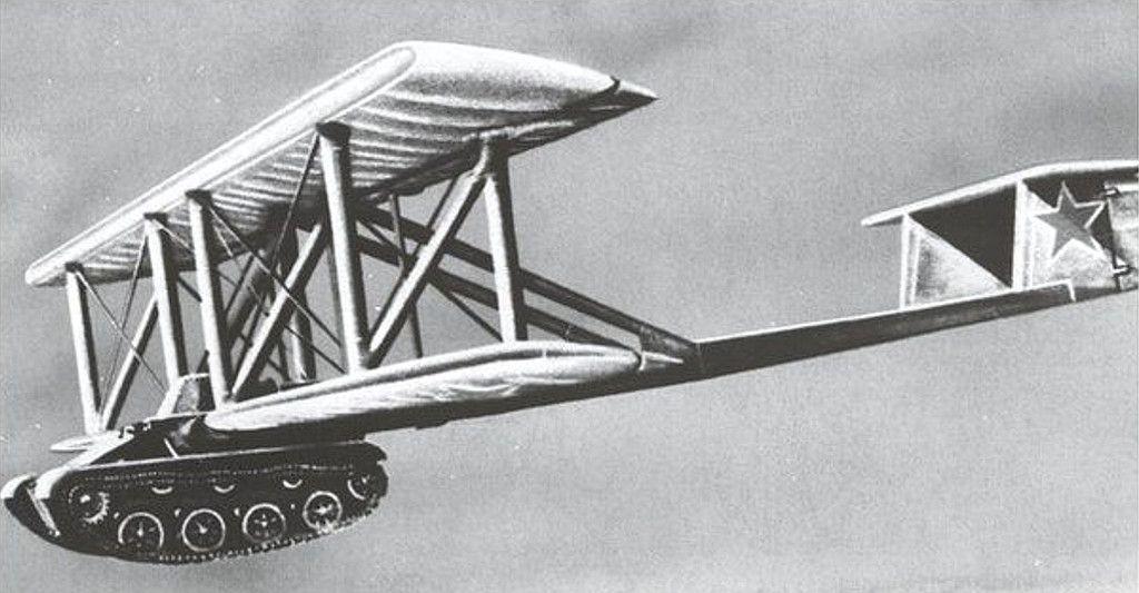 Планиращ летящ танк Антонов А-40 КТ