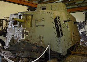 """Тежък немски щурмови танк A7V """"Wotan"""""""