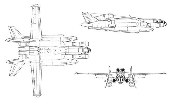 самолетът амфиибия ВВА-14 - схема