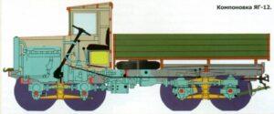 ЯГ-12 задвижване