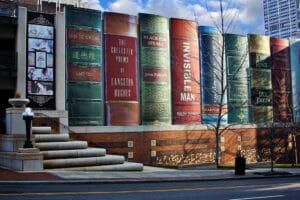 Библиотеката на Канзас Сити - вход