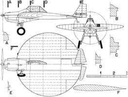 Самолетът с кръглo крилo Sack AS-6 - схема