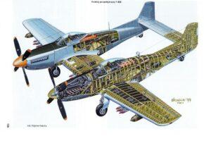P-82 Twin Mustang - схема
