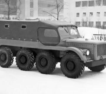 Осемколесният вседеход ГАЗ-62Б