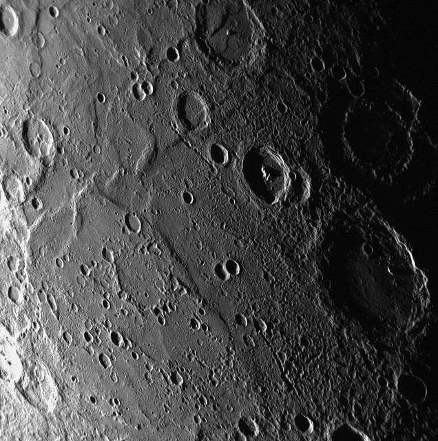 Вулкани на Меркурий, снимка НАСА