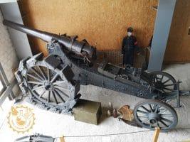 Оръдие Krupp модел 82 120 mm с прикачени задни колела