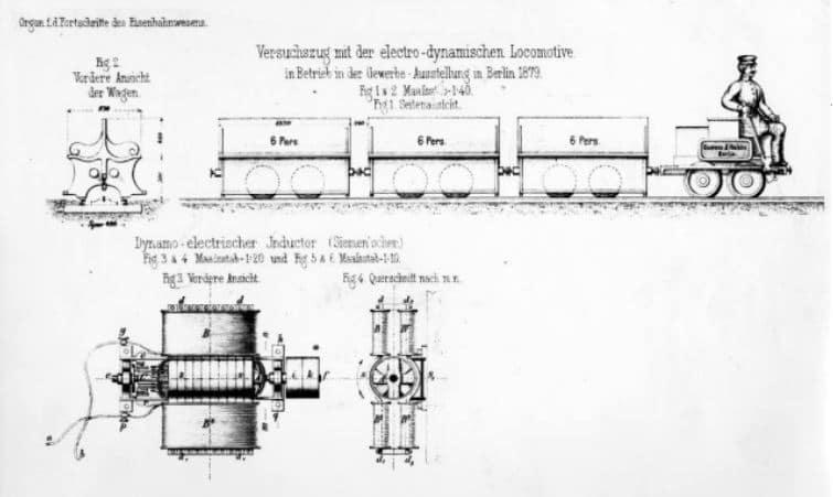Първият електрически влак - схема