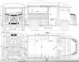 Citroen H - схема с размери
