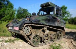 Бронираната машина Wiesel AWC в учебен вариант