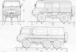 Военният камион Pinzgauer - схема