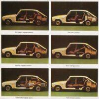 Първият хечбек Renault 16 - различни конфигурации