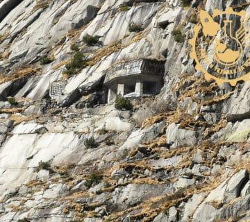 Бункер в скалите на масива Готард