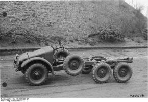 Камионът влекач Krupp-Protze - шаси